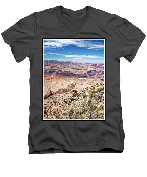 Grand Canyon View From The South Rim, Arizona Men's V-Neck T-Shirt
