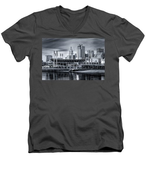 Great American Ball Park Men's V-Neck T-Shirt