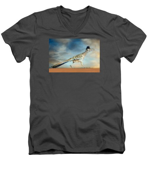 Greater Roadrunner Men's V-Neck T-Shirt