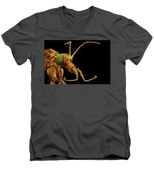 Green Eyed Crane Fly Men's V-Neck T-Shirt