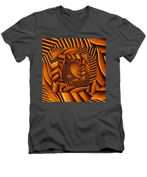 Men's V-Neck T-Shirt featuring the digital art Groovy by Ron Bissett