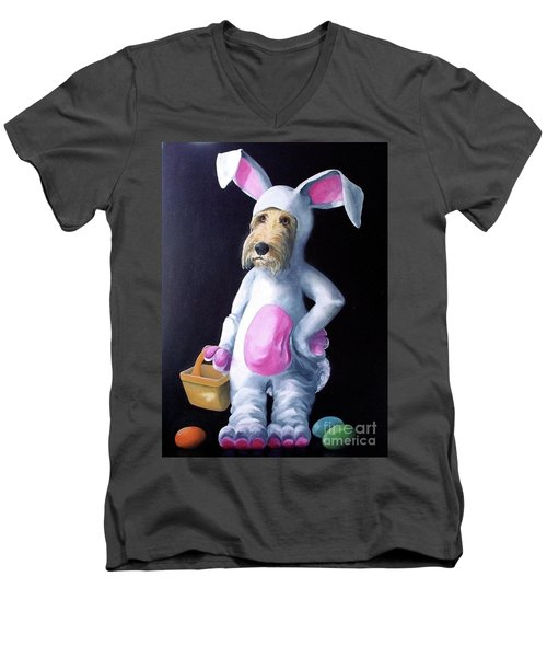 Gunther's Easter Parade Men's V-Neck T-Shirt by Diane Daigle