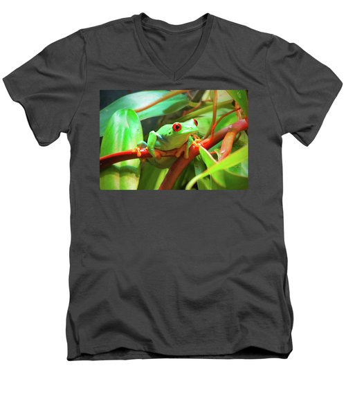 Hangin' In There Men's V-Neck T-Shirt
