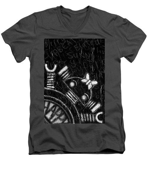 Happy Bot Men's V-Neck T-Shirt
