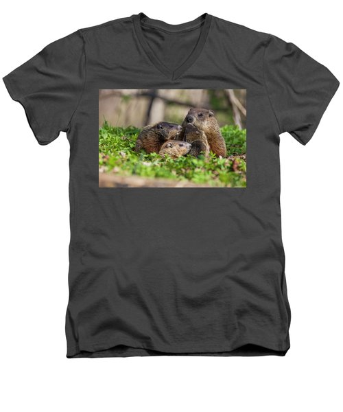 Happy Family Men's V-Neck T-Shirt by Mircea Costina Photography