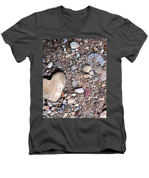 Heart Of Stone Men's V-Neck T-Shirt by Danielle R T Haney