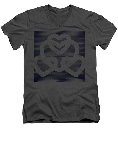 Hearts Men's V-Neck T-Shirt