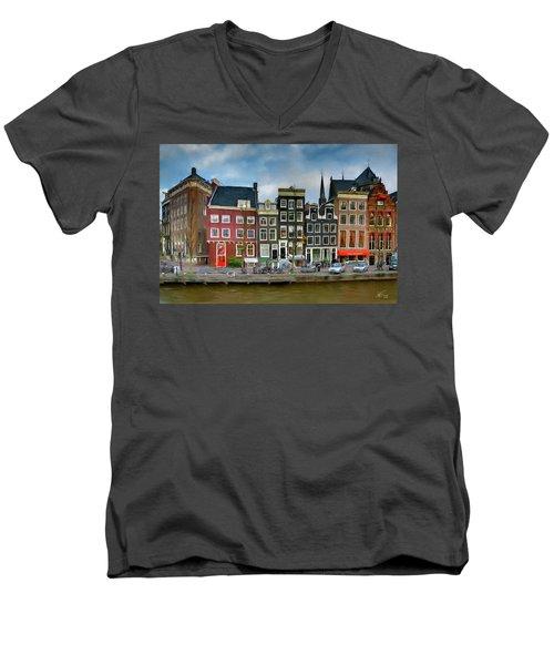 Herengracht 411. Amsterdam Men's V-Neck T-Shirt