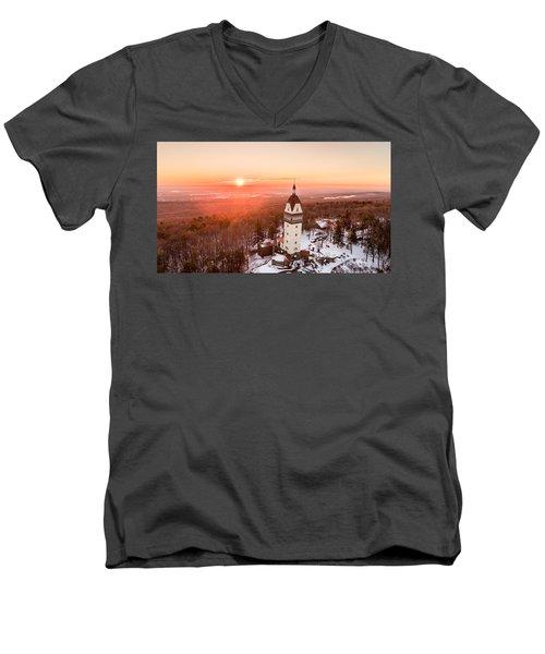 Heublein Tower In Simsbury, Connecticut Men's V-Neck T-Shirt