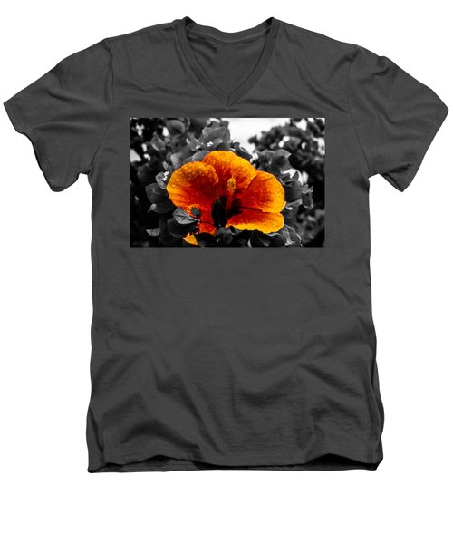 Hibiscus Beauty Men's V-Neck T-Shirt