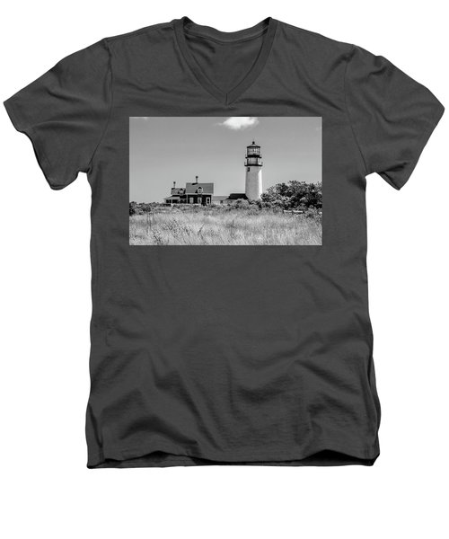 Men's V-Neck T-Shirt featuring the photograph Highland Light - Cape Cod by Peter Ciro