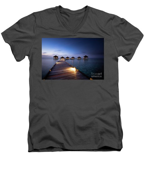 Men's V-Neck T-Shirt featuring the photograph Honeymooners Paradise by Hannes Cmarits
