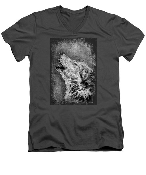 Howling Wolf Men's V-Neck T-Shirt