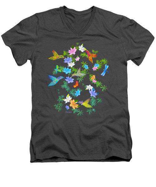 Hummingbird Spring Men's V-Neck T-Shirt