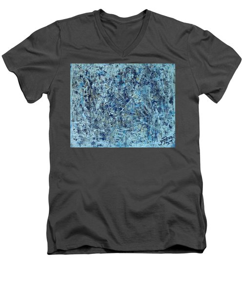 I Love Pollock Men's V-Neck T-Shirt