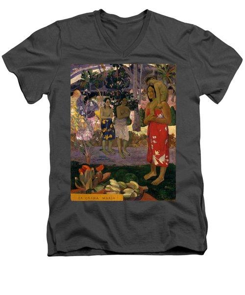 Ia Orana Maria Hail Mary Men's V-Neck T-Shirt
