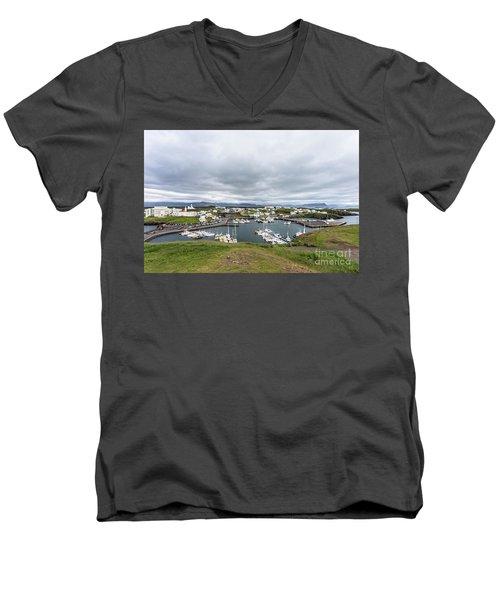 Iceland Fisherman Harbor Men's V-Neck T-Shirt