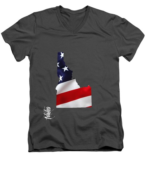 Idaho State Map Collection Men's V-Neck T-Shirt
