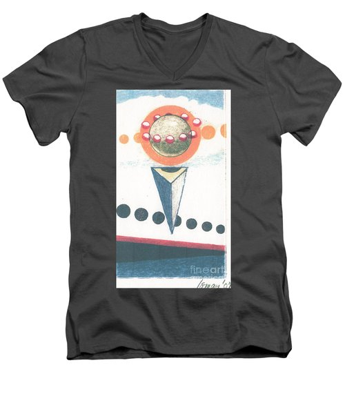 Men's V-Neck T-Shirt featuring the drawing Idea Ismay by Rod Ismay