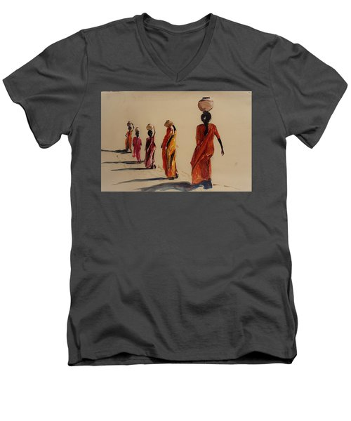 In Search Of Water. Men's V-Neck T-Shirt