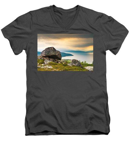 In The North Men's V-Neck T-Shirt by Maciej Markiewicz