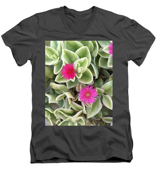 In The Pink Men's V-Neck T-Shirt by Kay Gilley