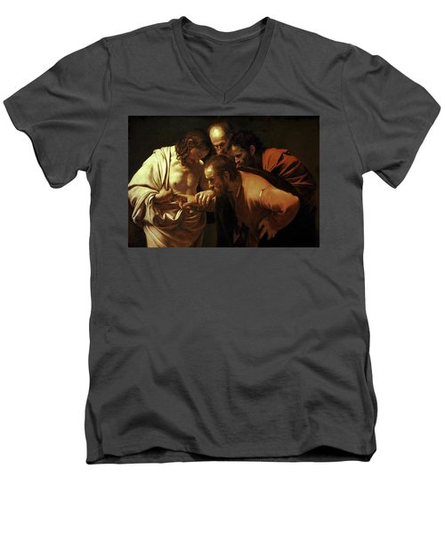 Incredulity Of Saint Thomas Men's V-Neck T-Shirt