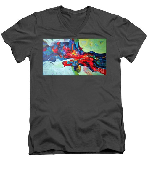 Inner Power Men's V-Neck T-Shirt by Sanjay Punekar