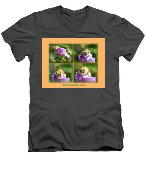 Men's V-Neck T-Shirt featuring the photograph Into Something Good by AJ Schibig