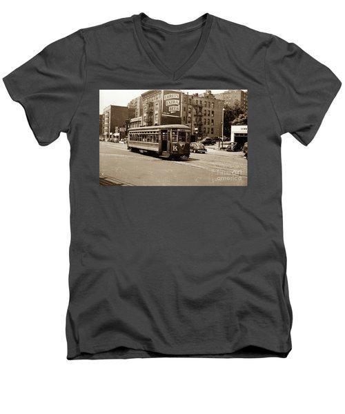 Inwood Trolley Men's V-Neck T-Shirt