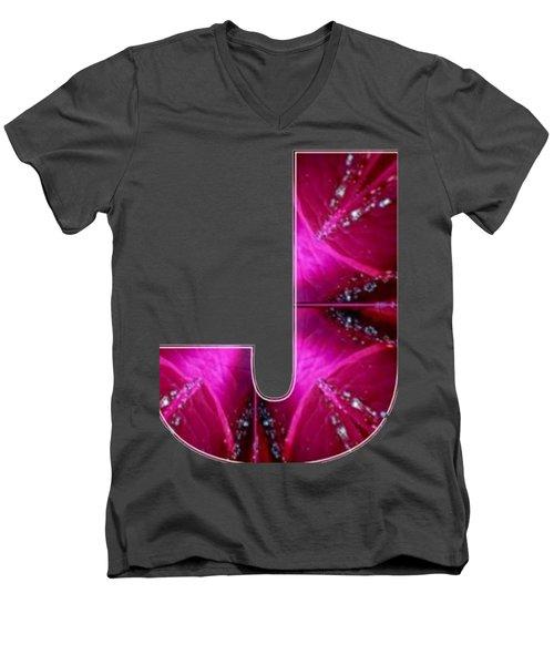 J Jj Jjj  Alpha Art On Shirts Alphabets Initials   Shirts Jersey T-shirts V-neck Sports Tank Tops  B Men's V-Neck T-Shirt by Navin Joshi