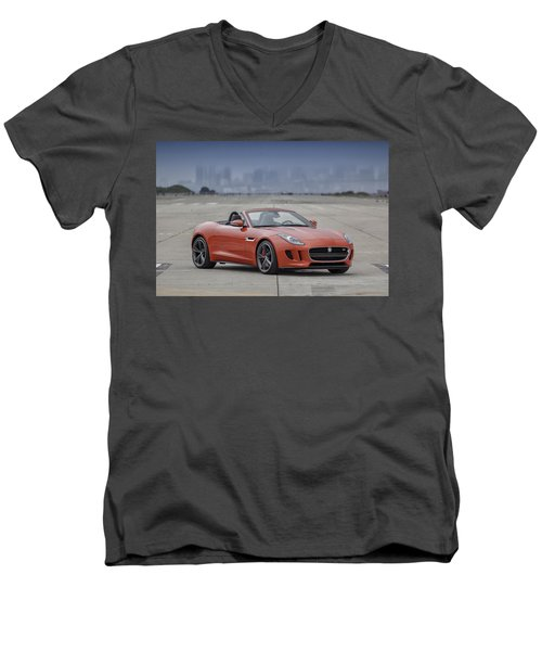 Jaguar F-type Convertible Men's V-Neck T-Shirt