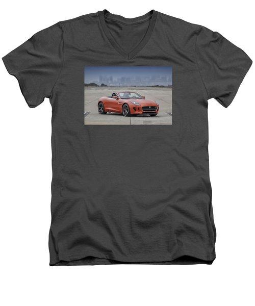 Jaguar F-type Convertible Men's V-Neck T-Shirt