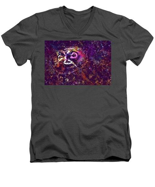 Men's V-Neck T-Shirt featuring the digital art Jellyfish North Sea Beach Mollusk  by PixBreak Art