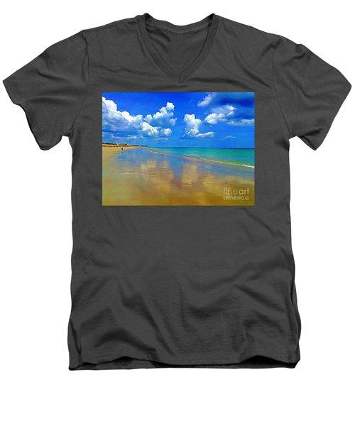 Jensen Beach  Men's V-Neck T-Shirt by Patrice Torrillo