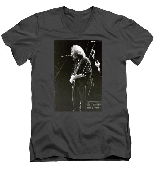 Grateful Dead - Jerry Garcia - Celebrities Men's V-Neck T-Shirt by Susan Carella