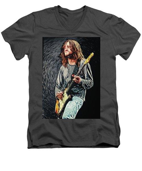 John Frusciante Men's V-Neck T-Shirt by Taylan Apukovska
