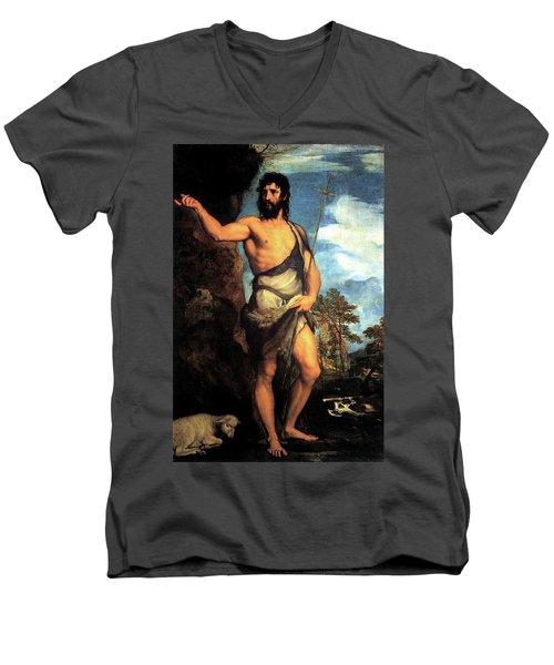 John The Baptist Men's V-Neck T-Shirt