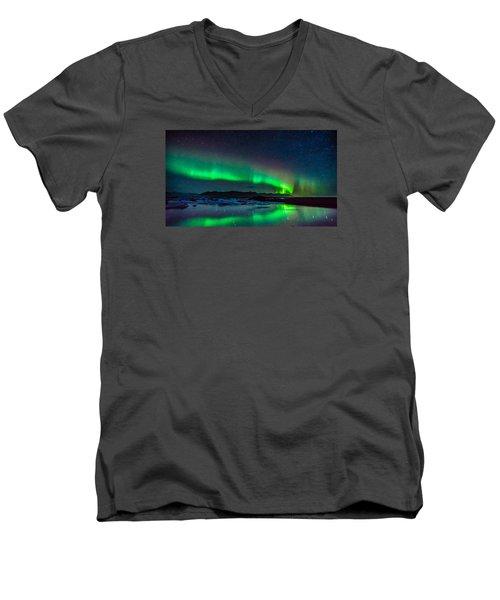 Jokulsarlon Aurora Men's V-Neck T-Shirt
