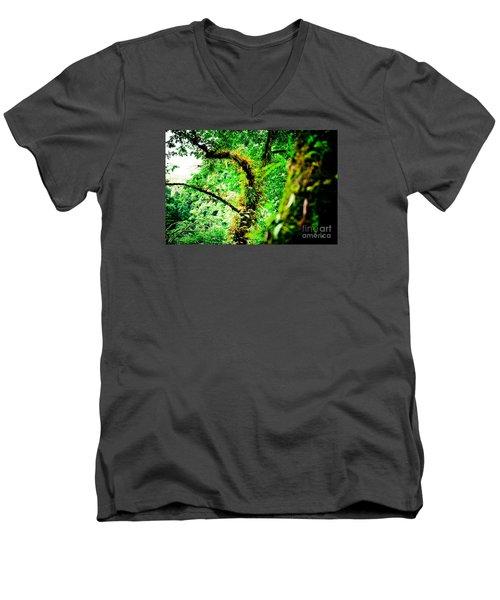 Jungle Annapurna Yatra Himalayas Mountain Nepal Men's V-Neck T-Shirt