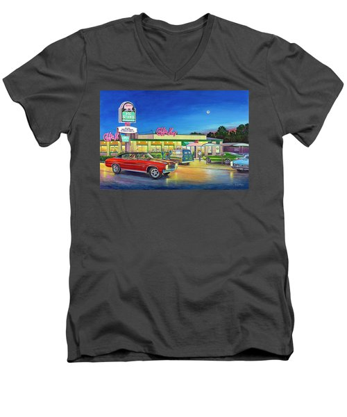 Muscle Car Cruise Night Men's V-Neck T-Shirt