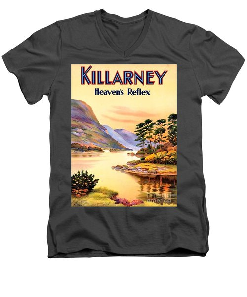 Killarney Men's V-Neck T-Shirt by Pg Reproductions