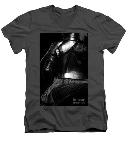 Knights Of Old 15 Men's V-Neck T-Shirt by Bob Christopher