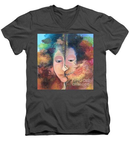 La Fille Foret Men's V-Neck T-Shirt