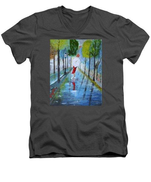 Lady In Red Original Version Men's V-Neck T-Shirt
