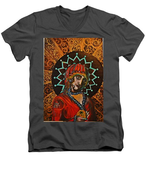 Lady Of Spades Men's V-Neck T-Shirt by Sandro Ramani