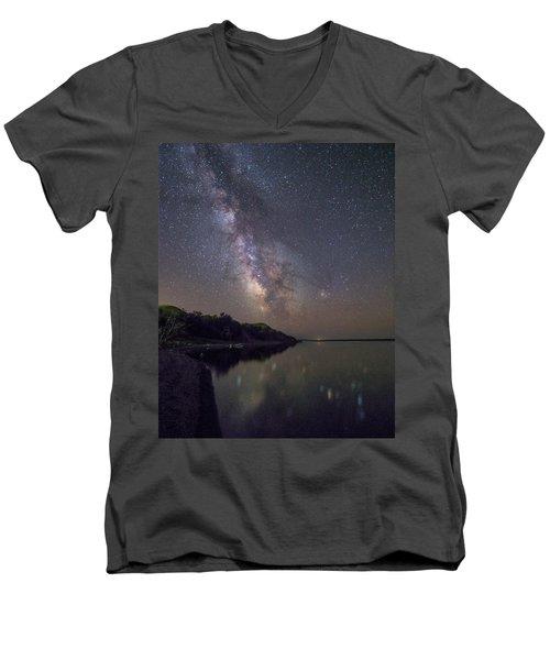 Lake Oahe  Men's V-Neck T-Shirt