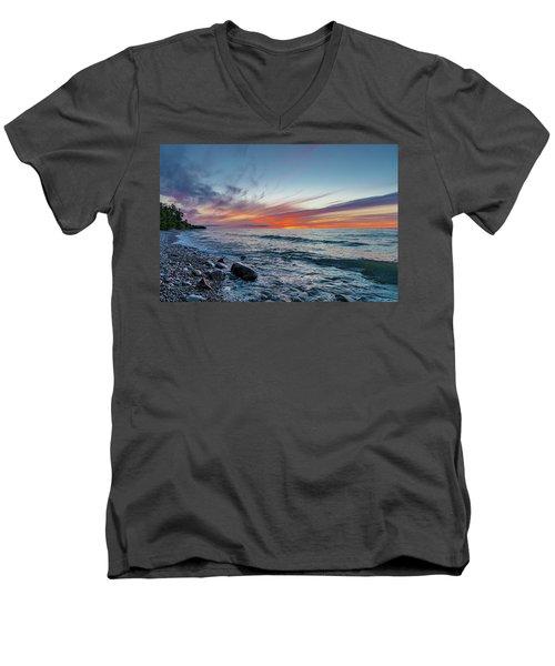Lake Superior Sunset Men's V-Neck T-Shirt