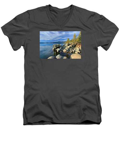 Lake Tahoe Rocks Men's V-Neck T-Shirt