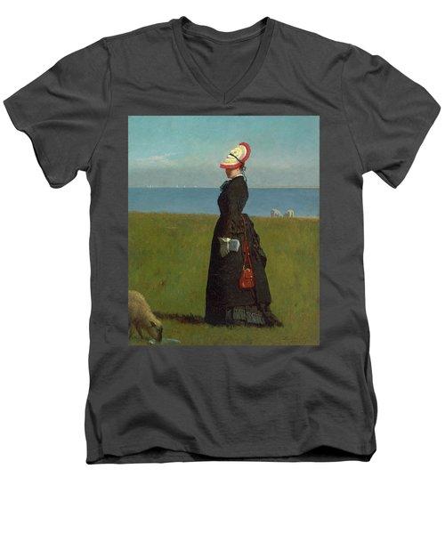 Lambs Nantucket Men's V-Neck T-Shirt